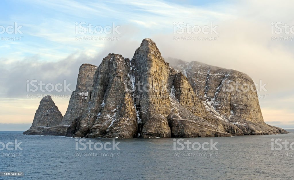 Remote Island in the High Arctic stock photo