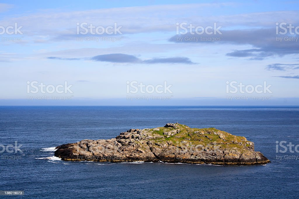 Remote island in the sea stock photo