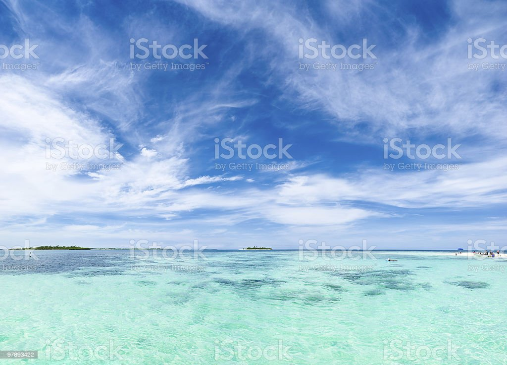 Remote Islands in the ocean royalty-free stock photo