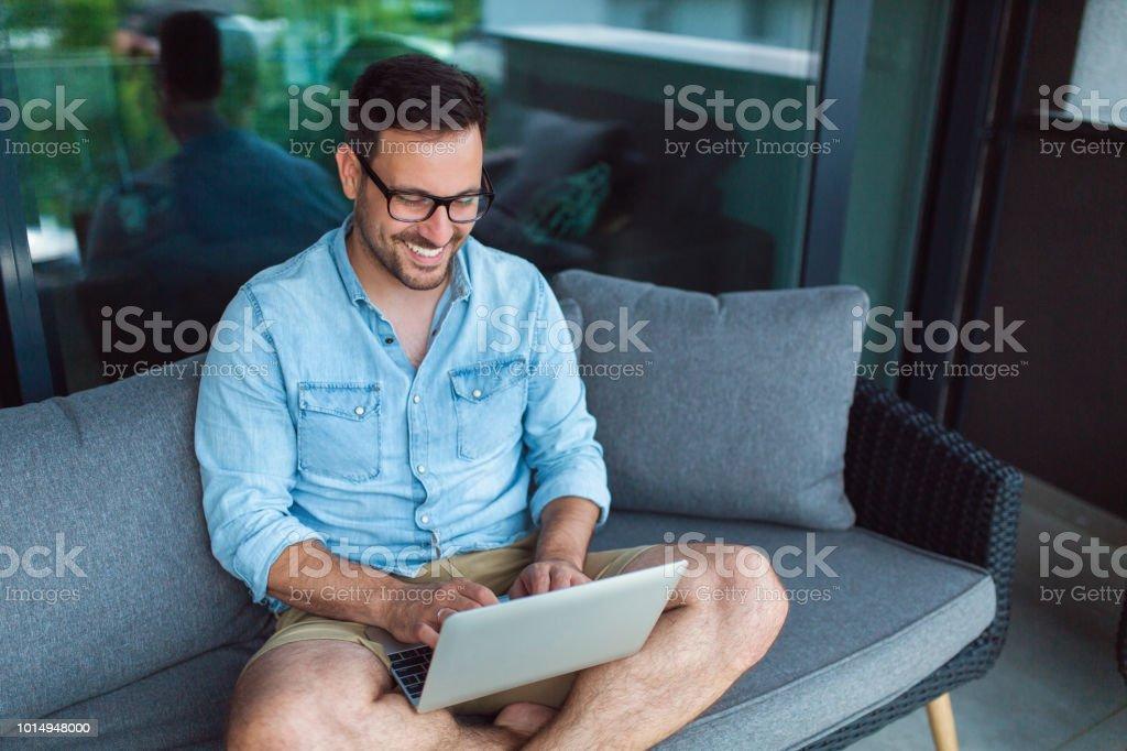 Remote job stock photo