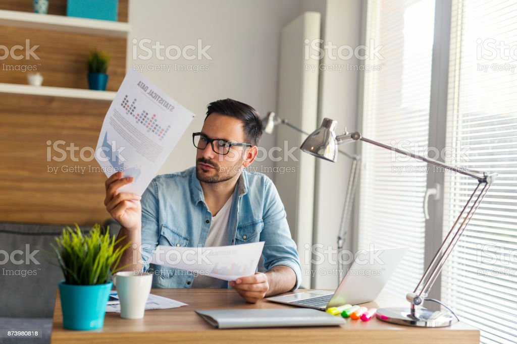 Remote job stock photo