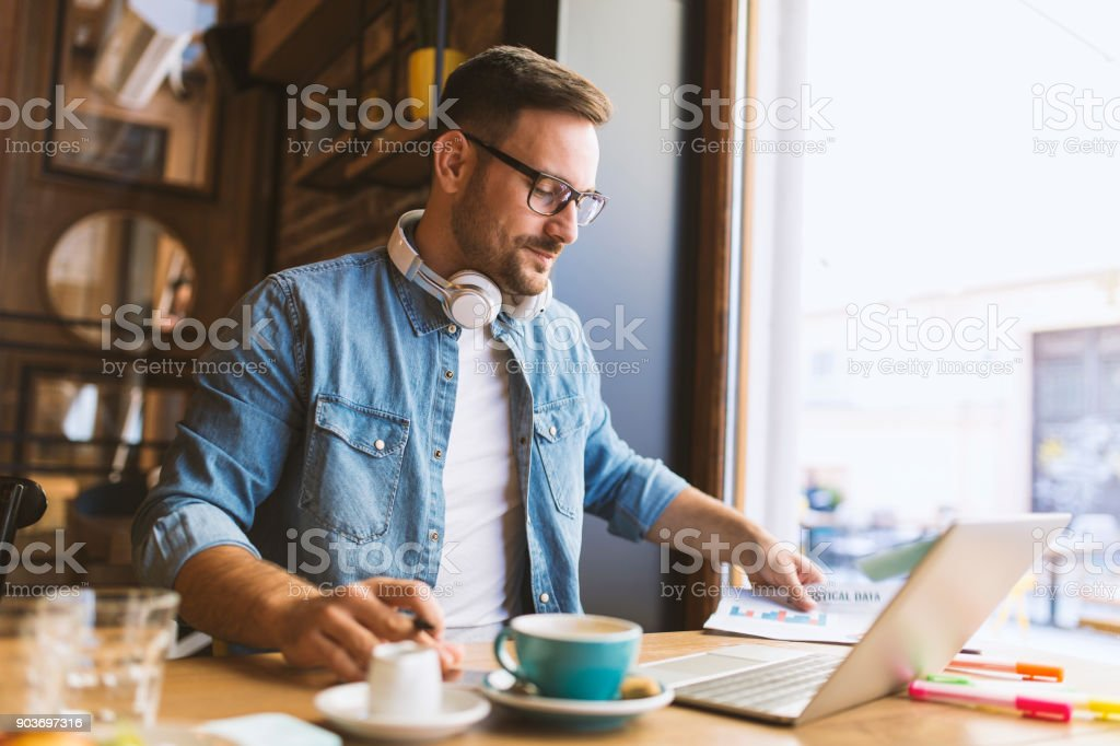 Remote job - Royalty-free Beard Stock Photo
