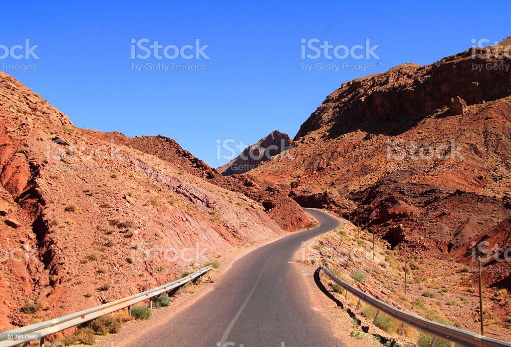 Remote mountain Pass, Dades Valley, Morocco stock photo