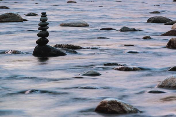 Remote Newfoundland River stock photo