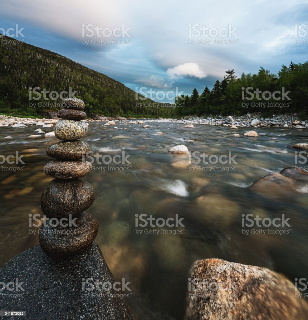 Remote Newfoundland River stock photo