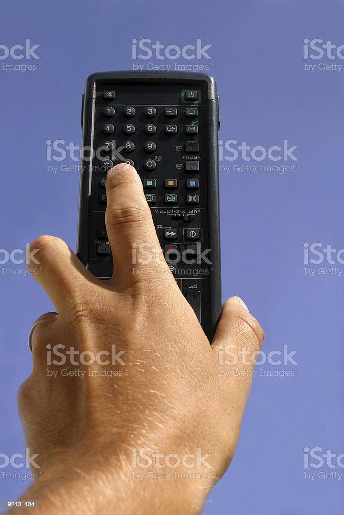Remote on Sky Blue stock photo