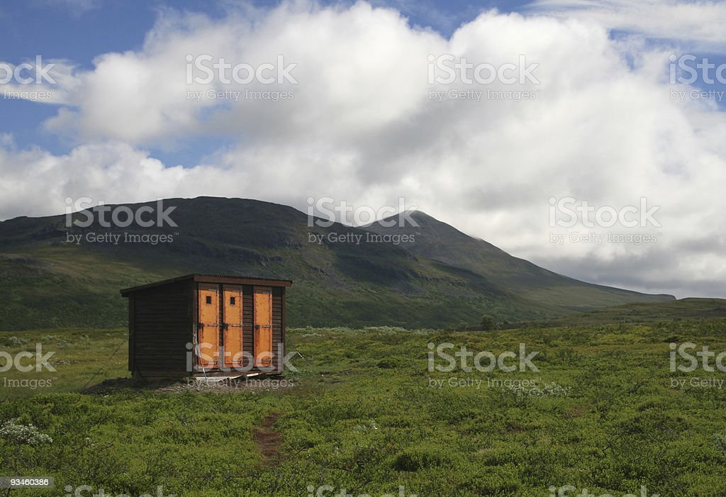 Remote outhouse royalty-free stock photo