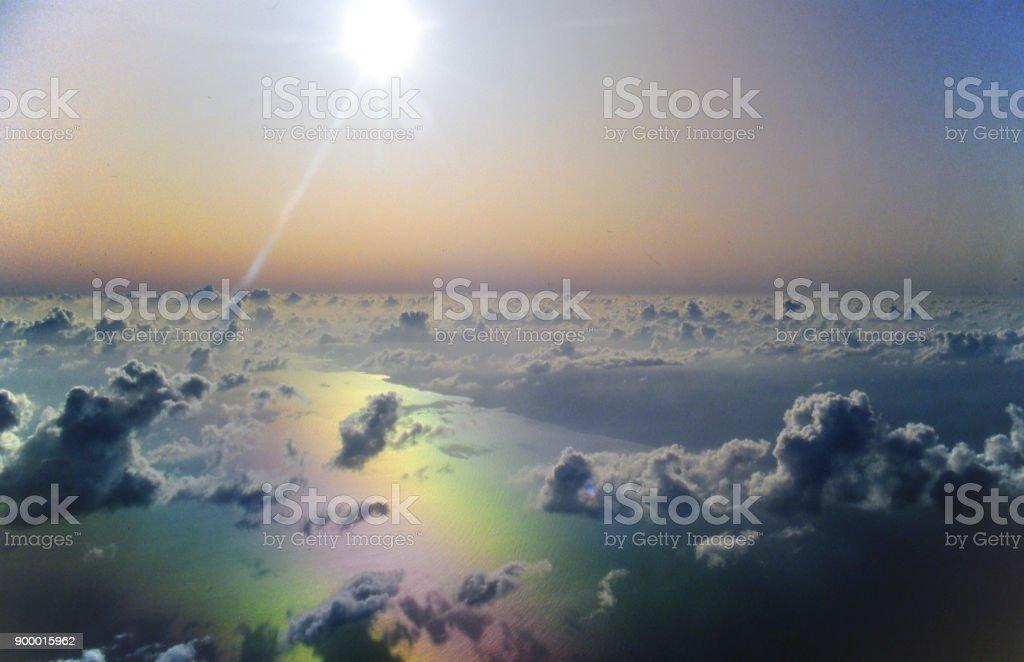 Remote Pacific aerial stock photo