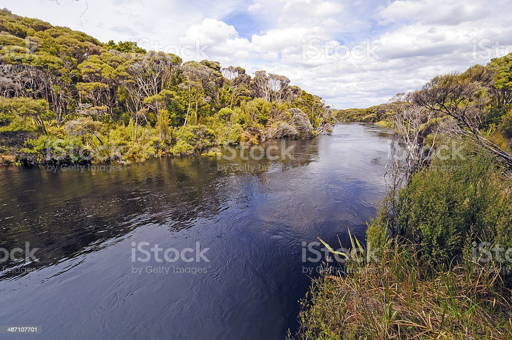 Remote River in a sub-tropical island stock photo