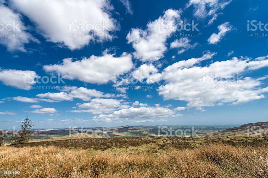 Remote rural Scotland on a bright sunny afternoon stock photo