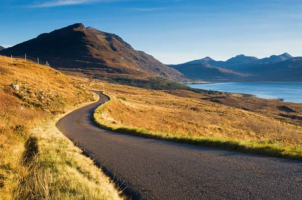 Remote Scottish road stock photo