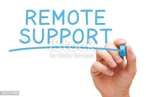 istock Remote Support Blue Marker 674714792