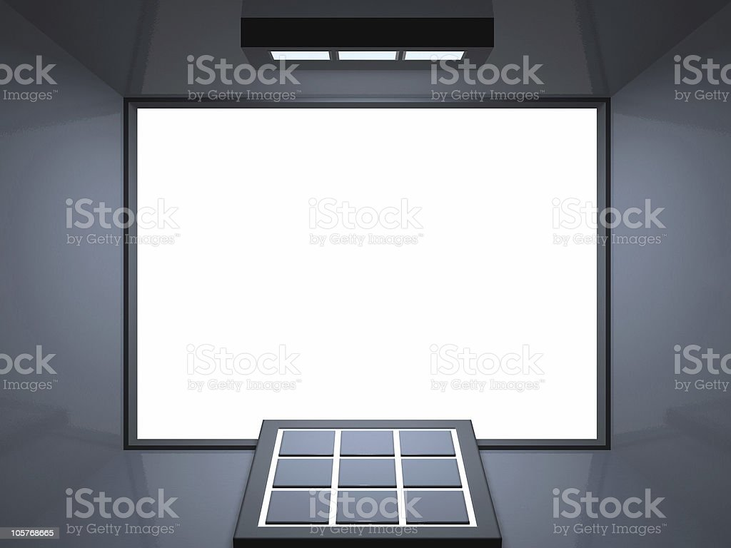 Remote theatre - silver blue royalty-free stock photo