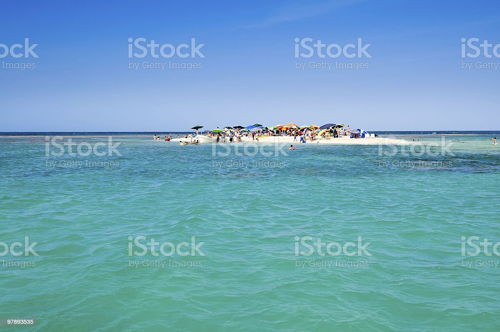 Remote Tropical Cay royalty-free stock photo
