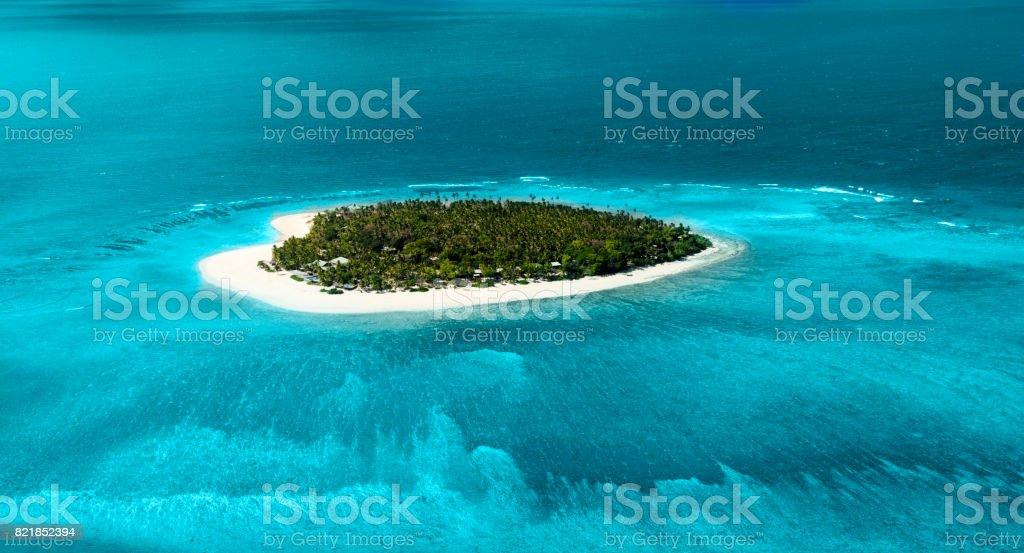 Uzak tropikal Adası stok fotoğrafı
