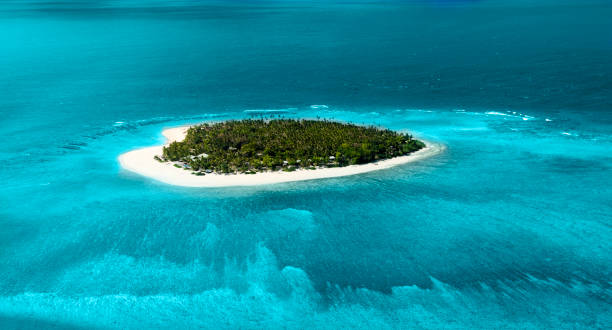 Remote tropical Island stock photo