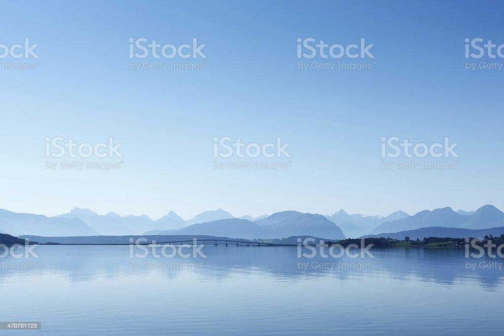 Remote view at the Atlantic Ocean Road, Norway. stock photo