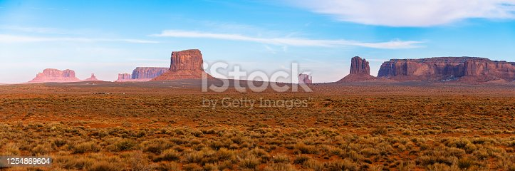 Remote view of Monument Valley, Utah, USA, in the winter