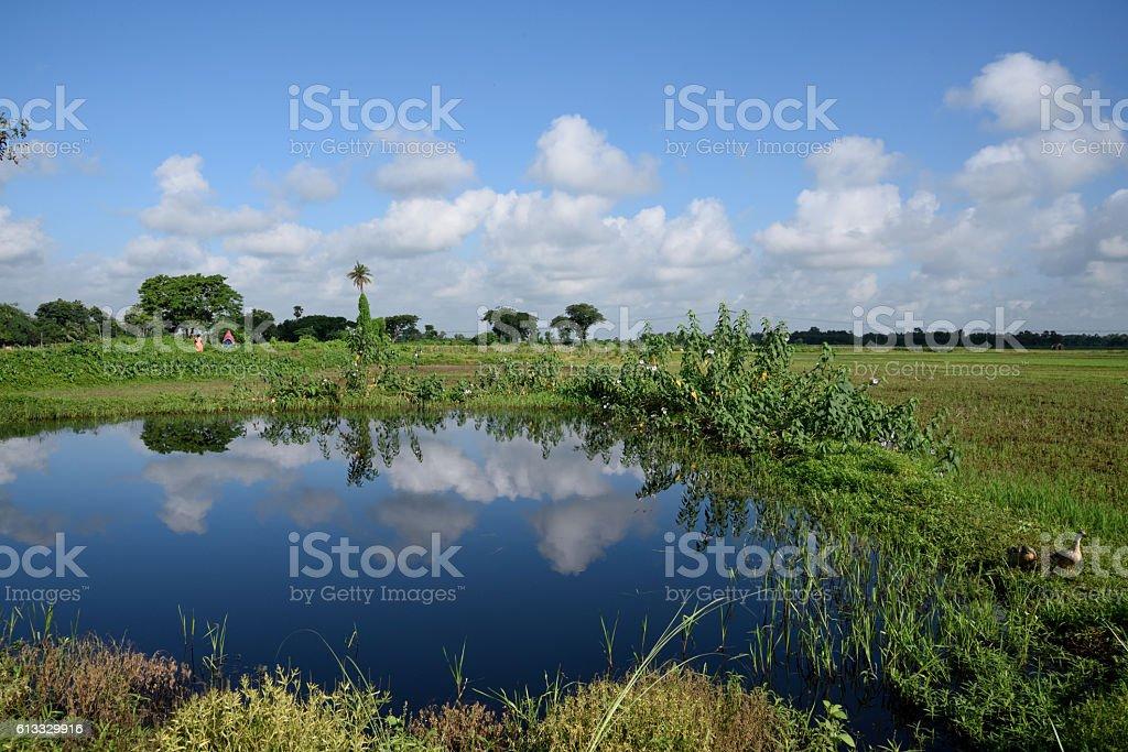 Remote Village Seen Ofwest Bengalindia Stock Photo