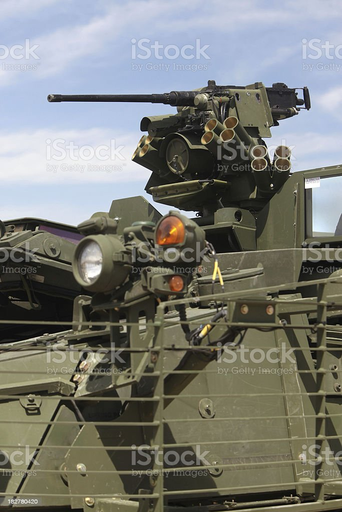 Remote Weapons Station on Stryker Vehicle stock photo
