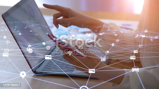 istock Remote work concept. Working at home. Telework. 1223790327