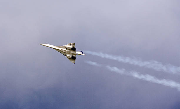 Remote-controlled Concorde scale model  supersonic airplane stock pictures, royalty-free photos & images