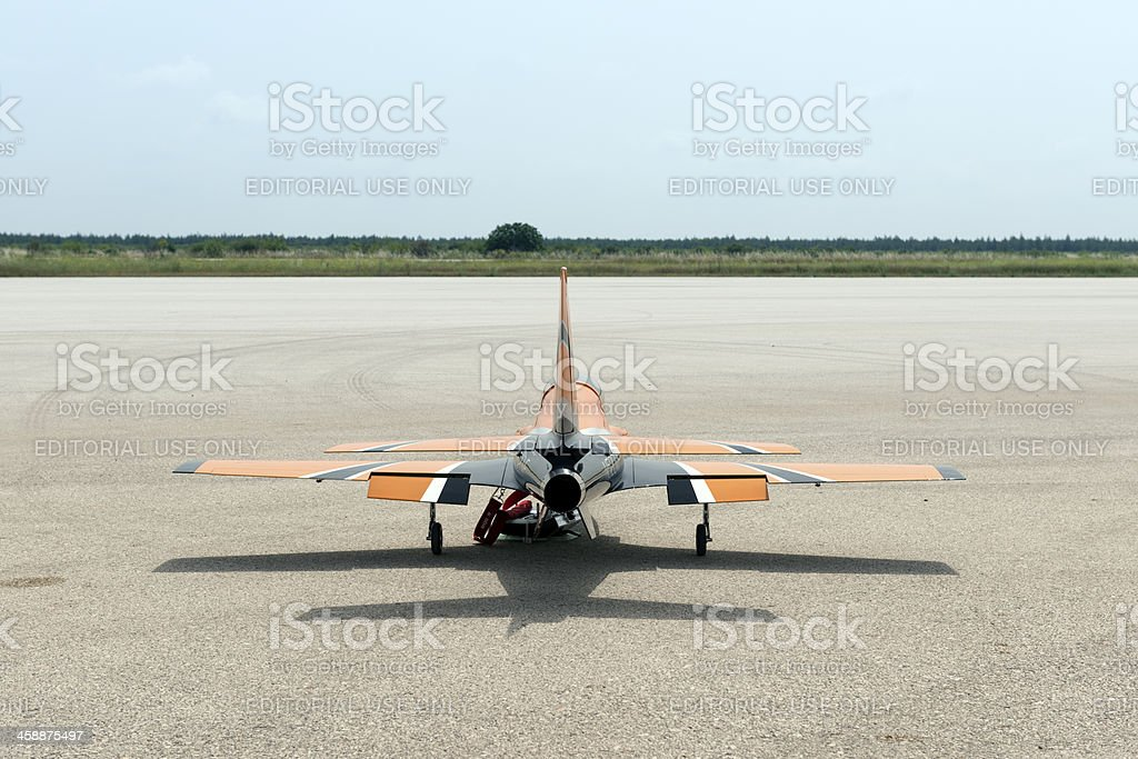 Remote-controlled model airplane royalty-free stock photo