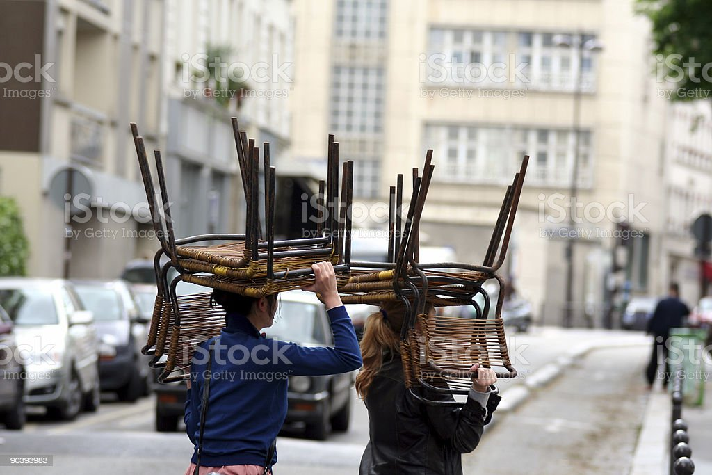 Removal women stock photo