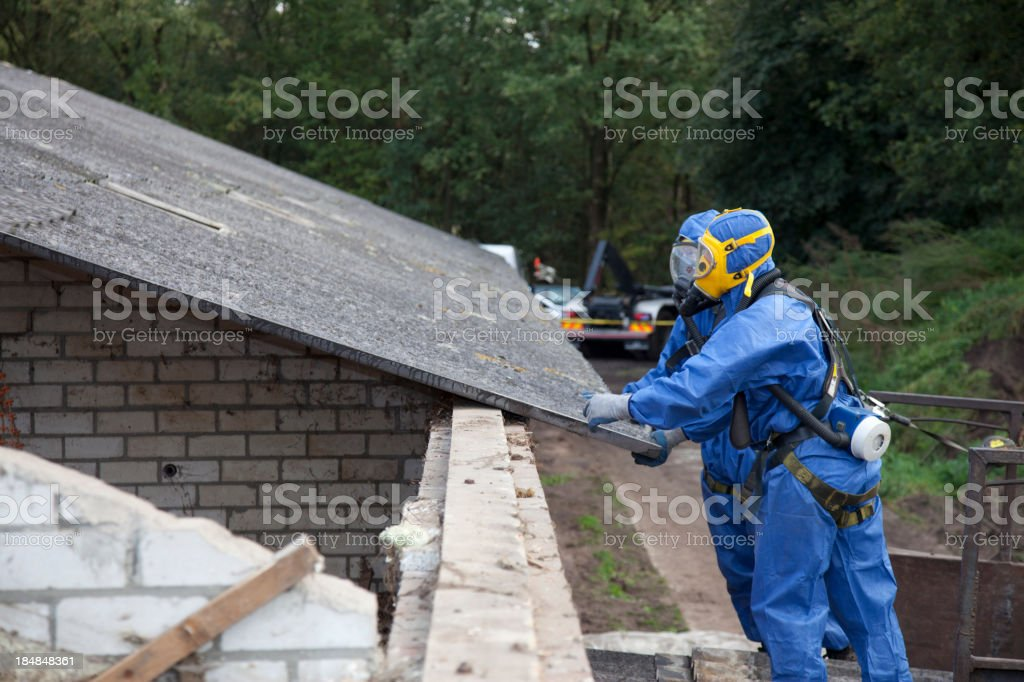 Remove asbestos stock photo