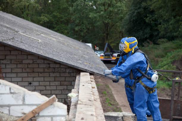 Remove asbestos stock photo