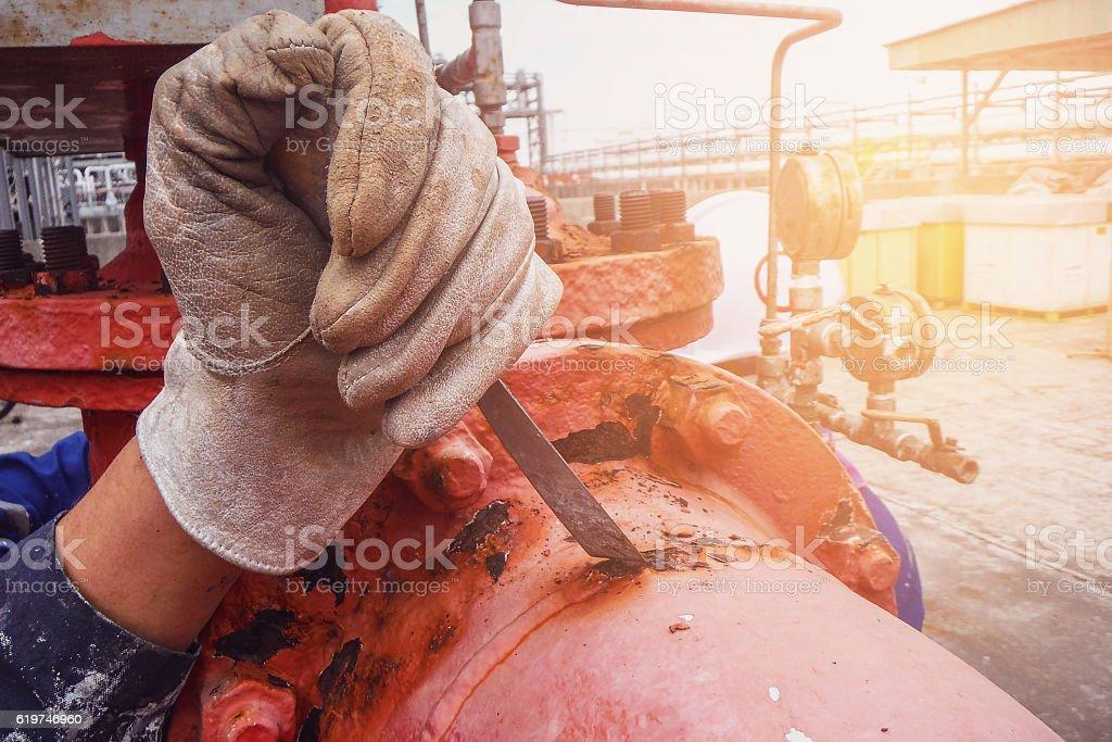 Remove rust stock photo