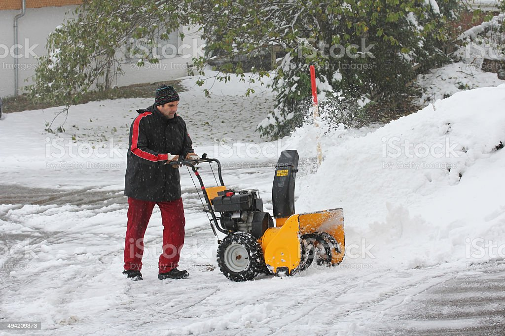removes snow stock photo