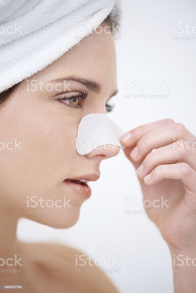 Removing Blackheads In One Quick Pluck Stock Photo & More