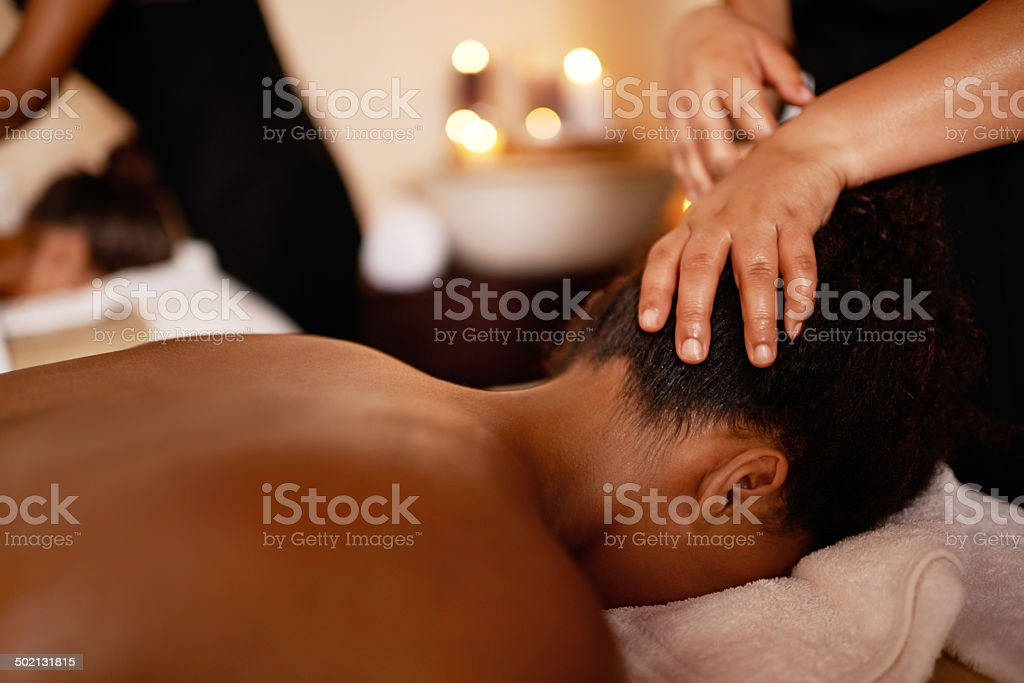 Removing every ounce of tension stock photo