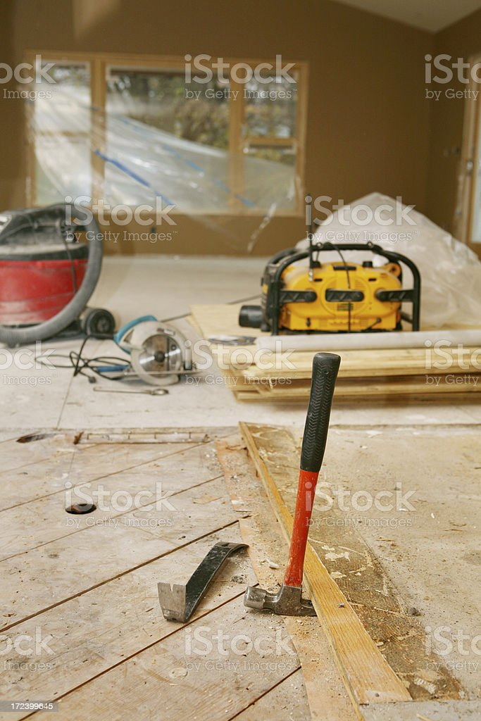 Removing Floor royalty-free stock photo