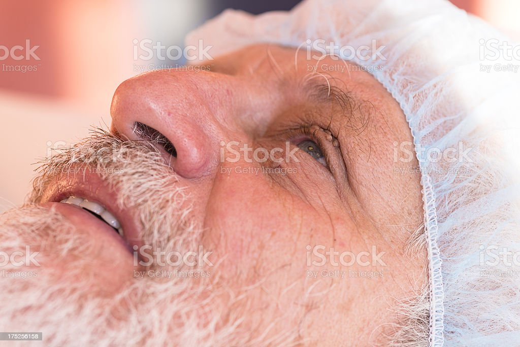 removing skin wart stock photo