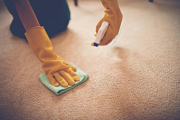 removing stain - tapijt stockfoto's en -beelden