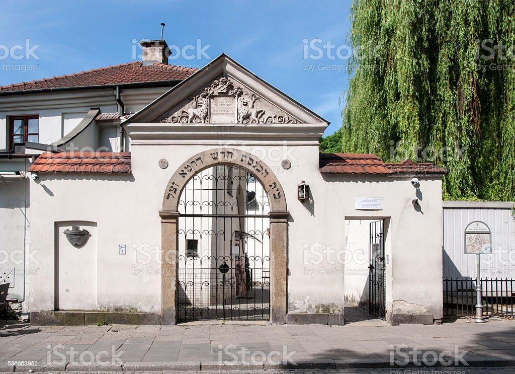 Remuh Synagogue in Krakow, Poland stock photo