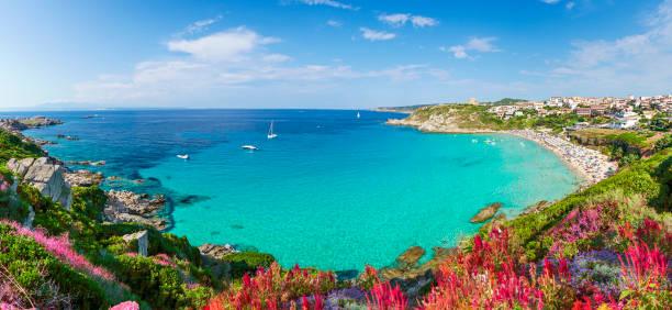 rena bianca beach, sardinia - sardegna foto e immagini stock