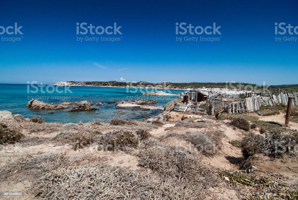 Rena maiore beach on beautiful Sardinia stock photo