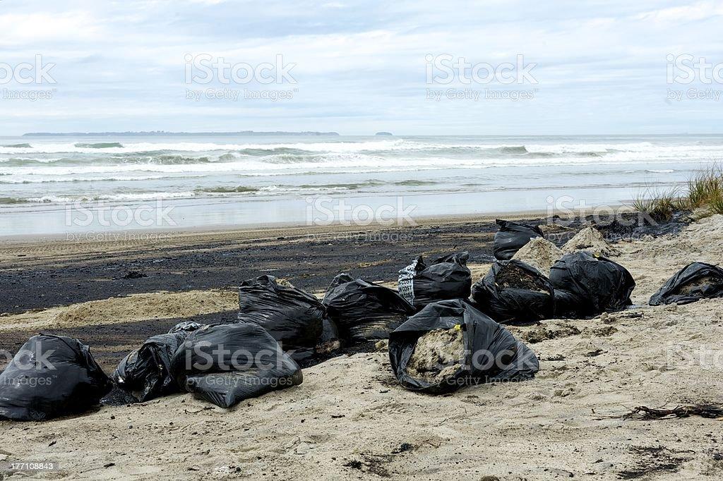 Rena oil spill royalty-free stock photo