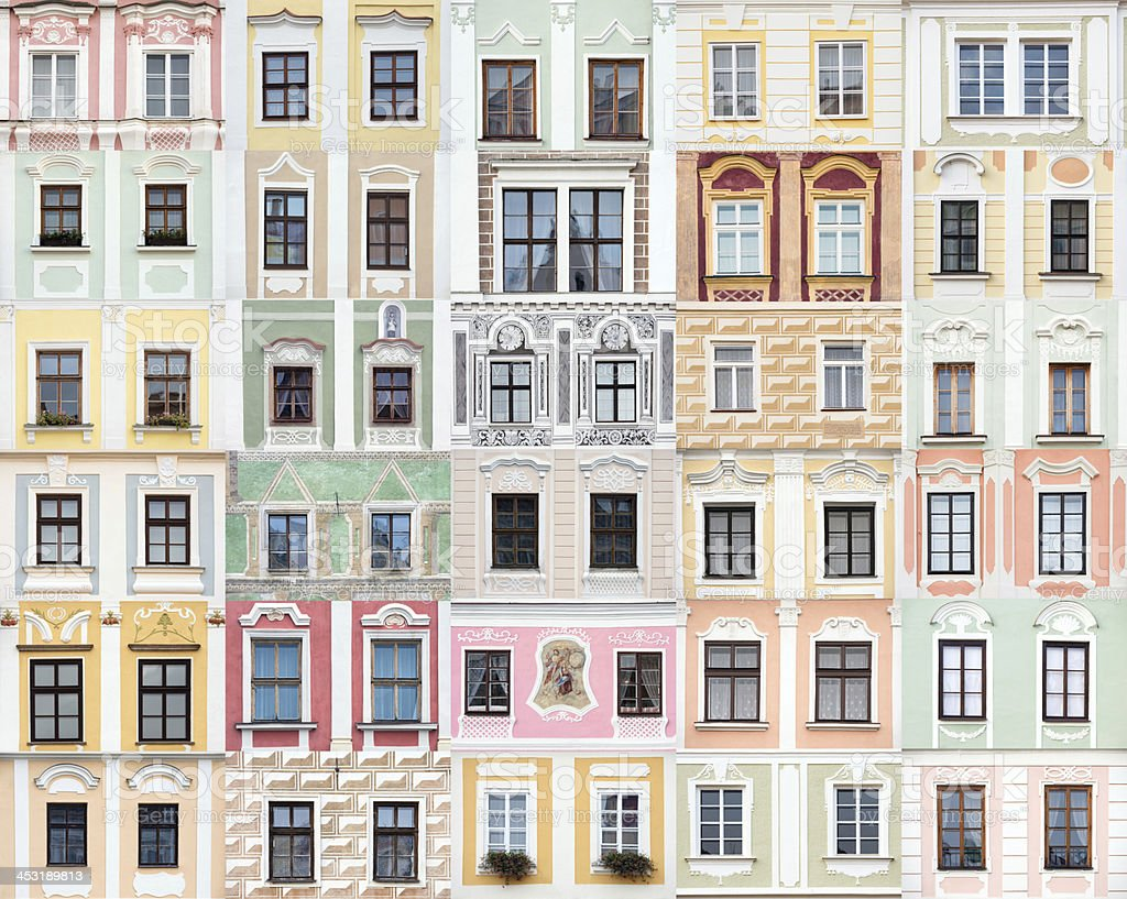 Renaissance and baroque windows from telc czech republic stock photo more pictures of antique - Fenster style ...