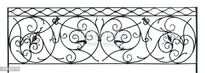 Renaissance balustrade isolated on white. You can combine it as endless pattern.
