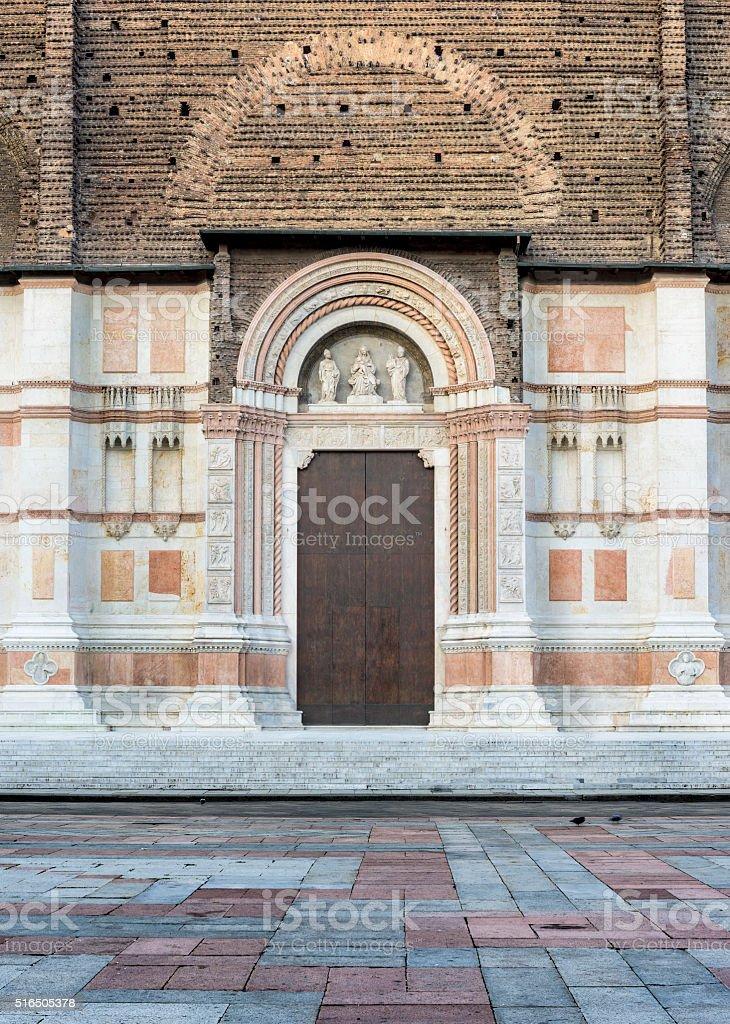Renaissance Church Doorway in Bologna stock photo