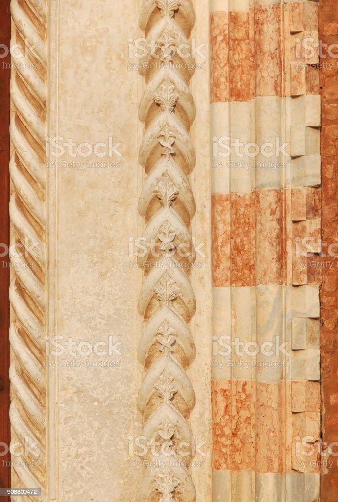 Renaissance decoration in Venice stock photo