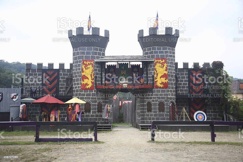 Renaissance Faire Joust Field stock photo