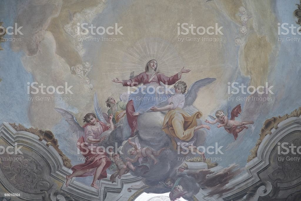 Renaissance fresco stock photo