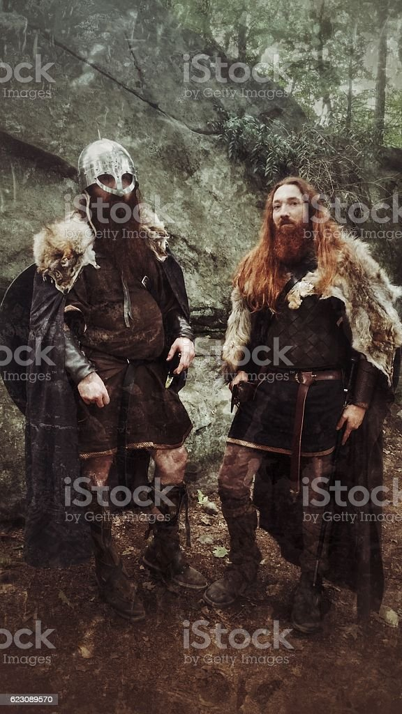 Renaissance Gladiator Viking Medieval LARP Halloween Authentic Costumed Armoured Men royalty-free stock photo  sc 1 st  iStock & Renaissance Gladiator Viking Medieval Larp Halloween Authentic ...