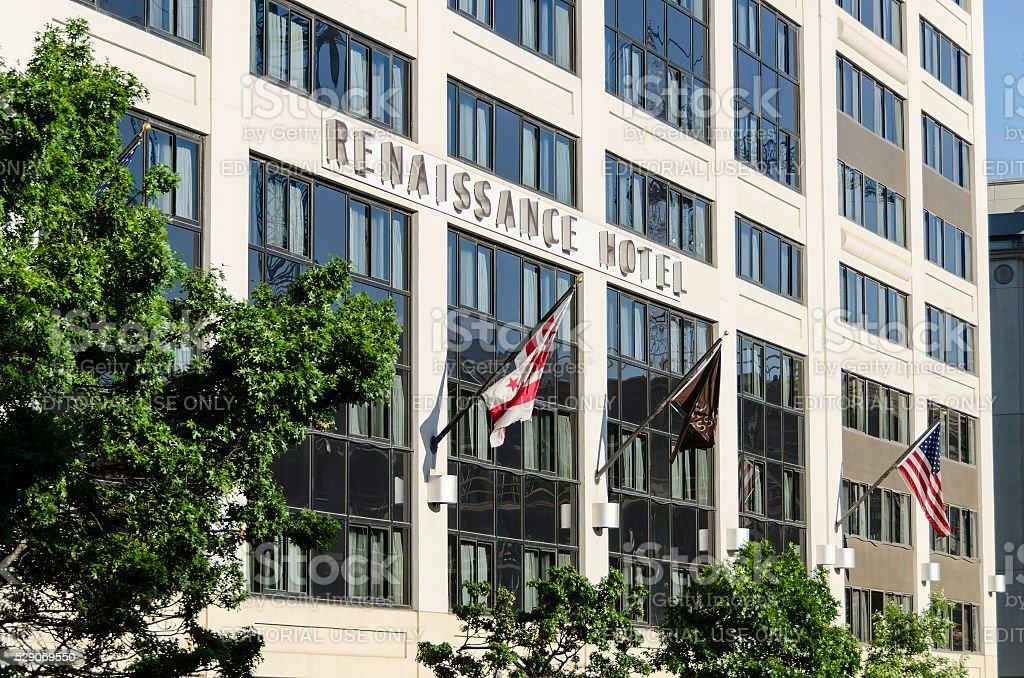 Renaissance Hotel in Downtown Washington DC. stock photo
