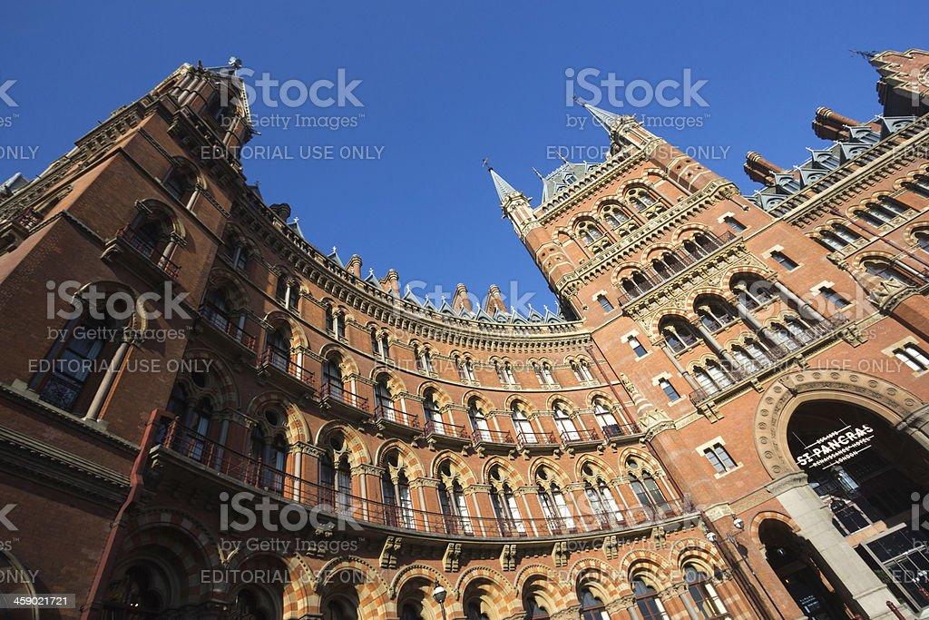 Renaissance Hotel in St Pancras, London royalty-free stock photo